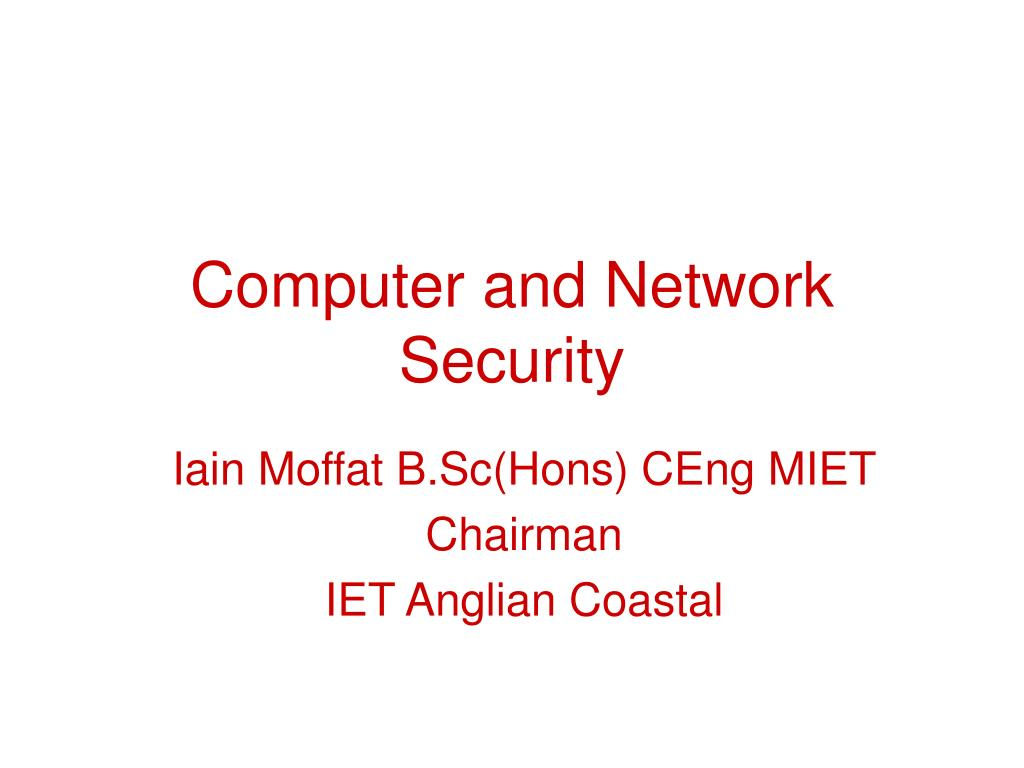 computer and network security l.