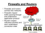 firewalls and routers