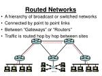 routed networks