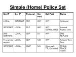 simple home policy set