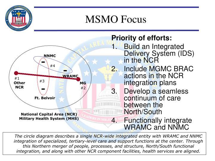 Priority of efforts: