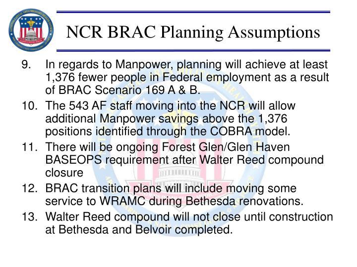 NCR BRAC Planning Assumptions