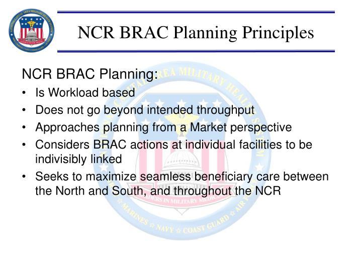 NCR BRAC Planning Principles