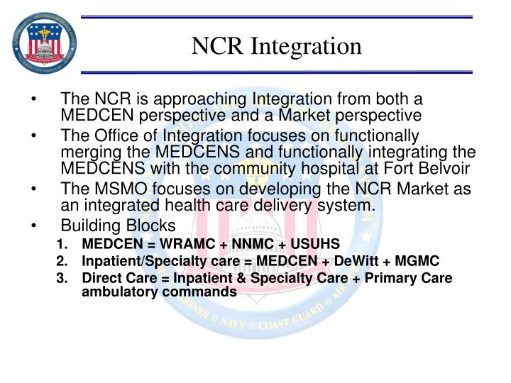 NCR Integration