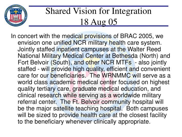 Shared Vision for Integration