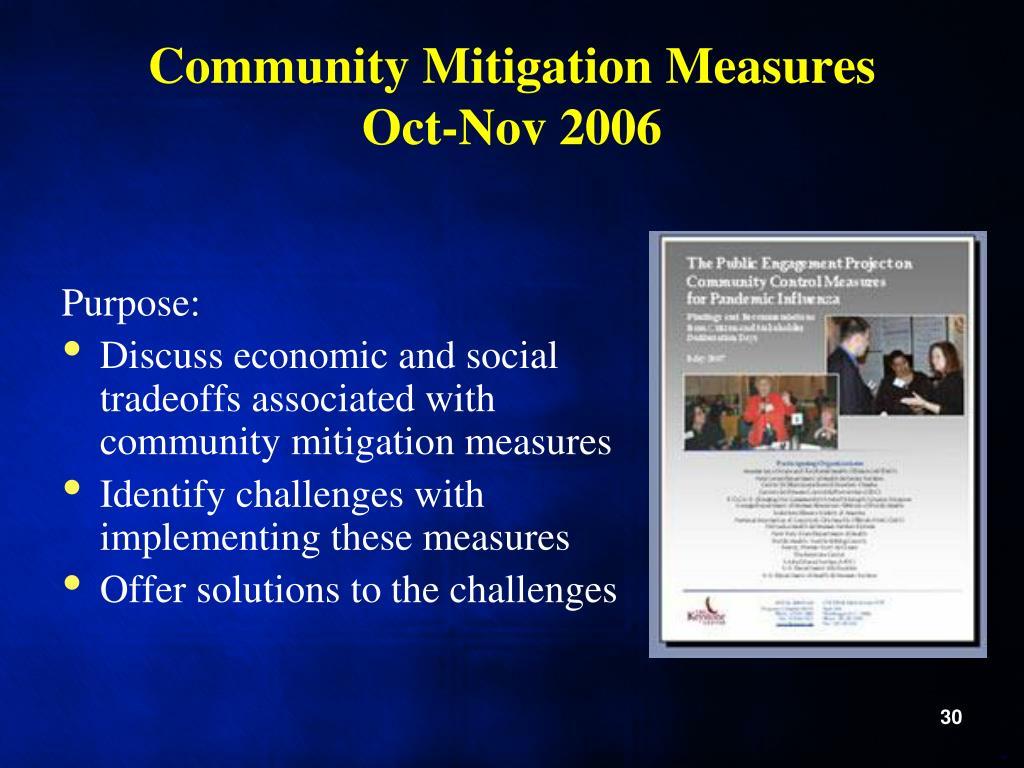 Community Mitigation Measures
