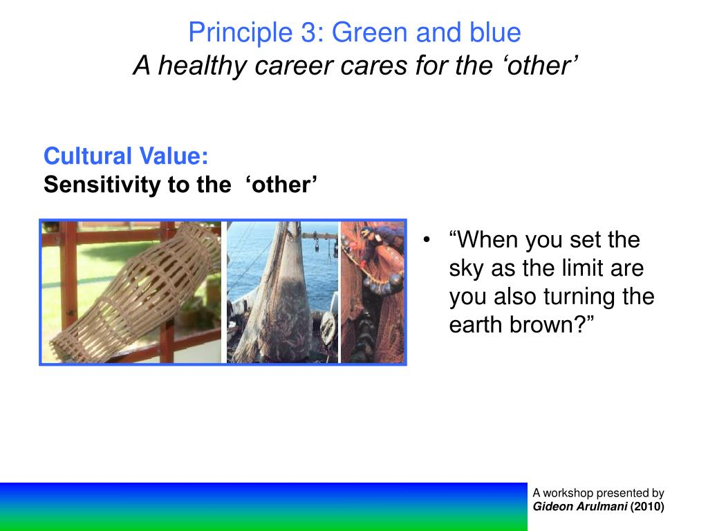 Principle 3: Green and blue