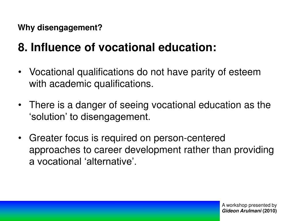 Why disengagement?