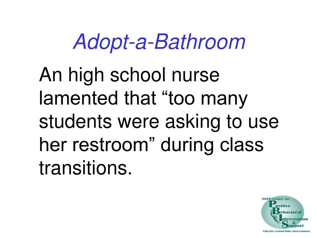 Adopt-a-Bathroom