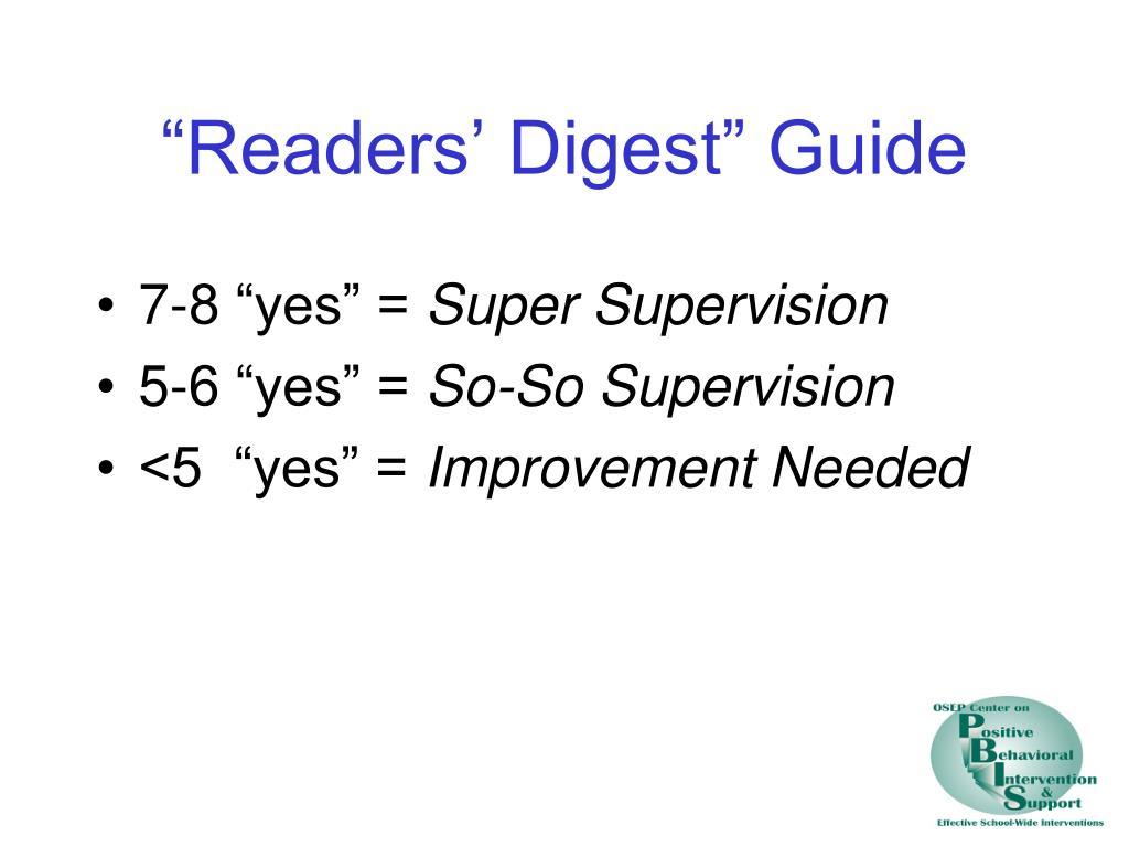 """""""Readers' Digest"""" Guide"""