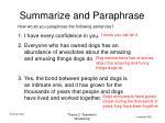 summarize and paraphrase5