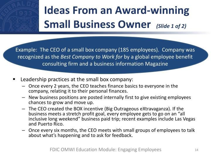 Ideas From an Award-winning Small Business Owner