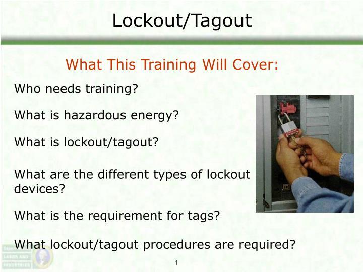 lockout tagout n.