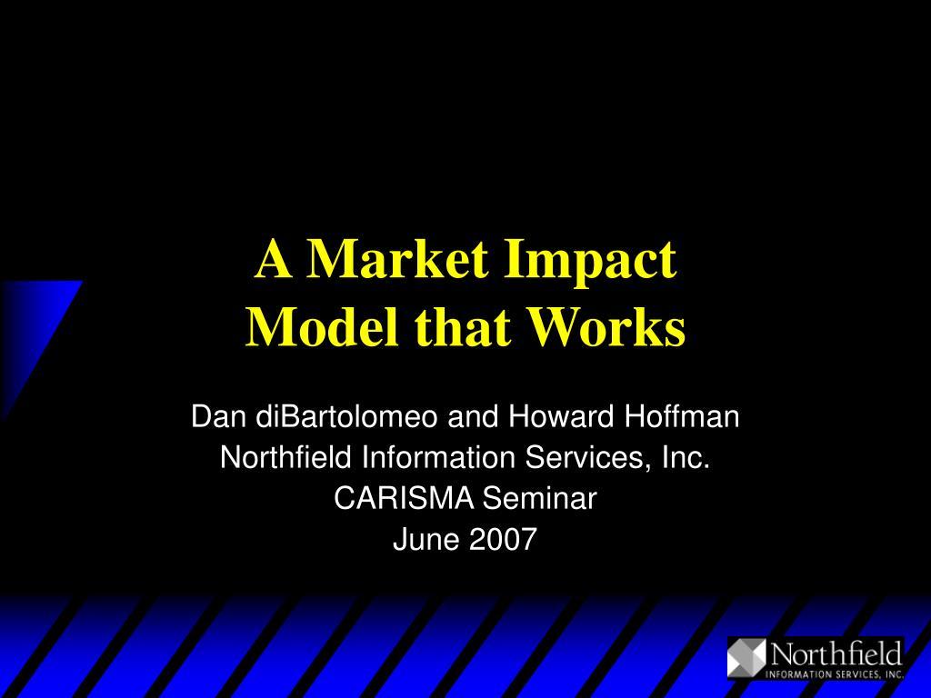 A Market Impact