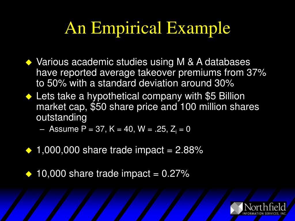 An Empirical Example