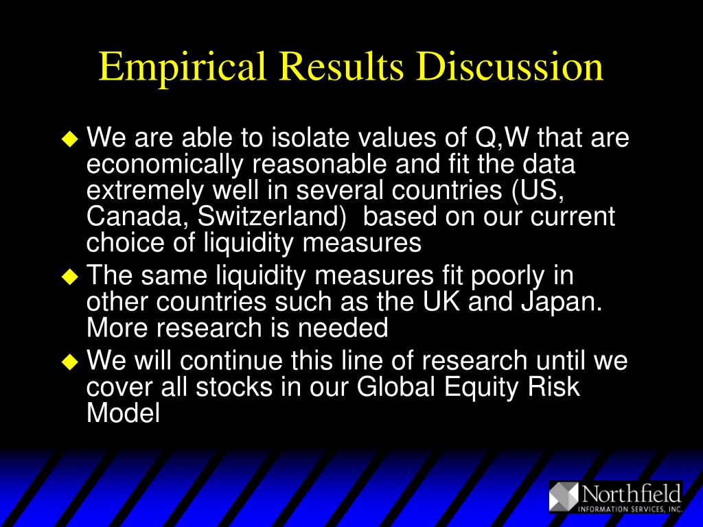 Empirical Results Discussion