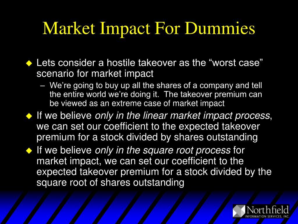 Market Impact For Dummies