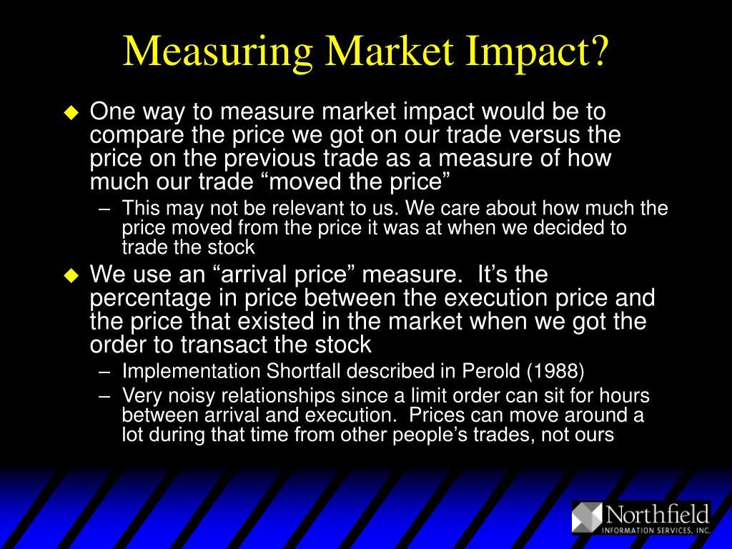 Measuring Market Impact?