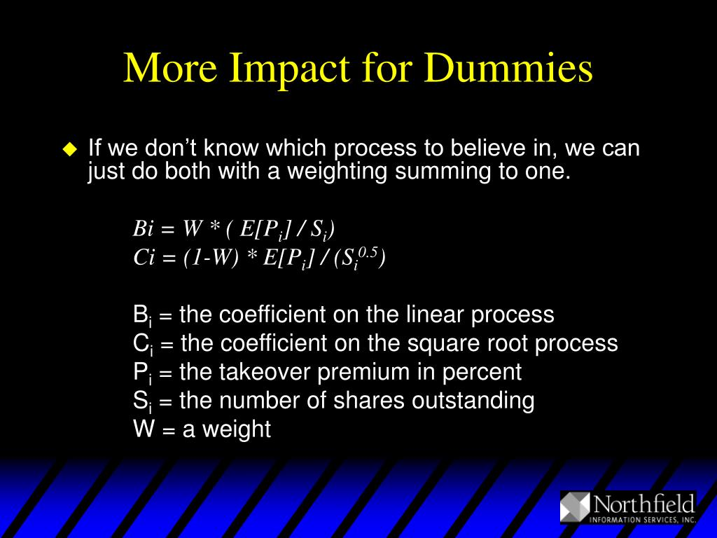 More Impact for Dummies