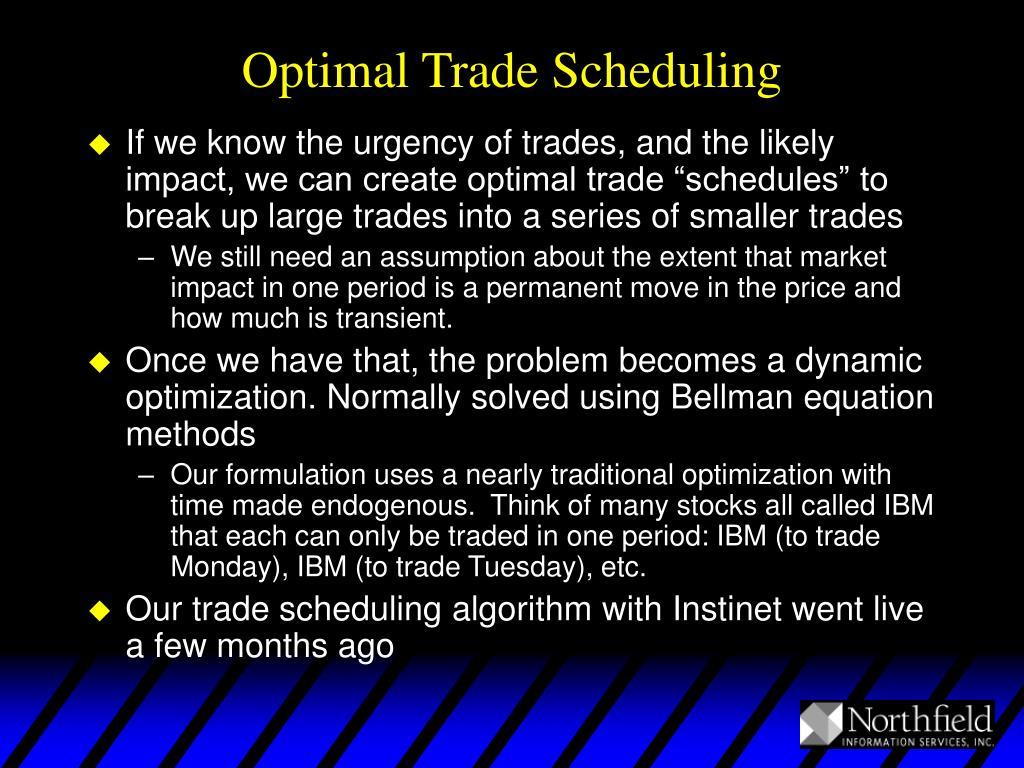 Optimal Trade Scheduling