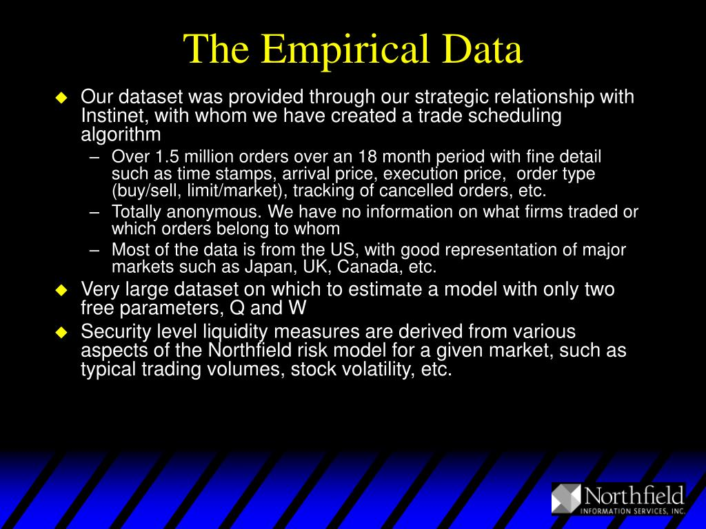 The Empirical Data