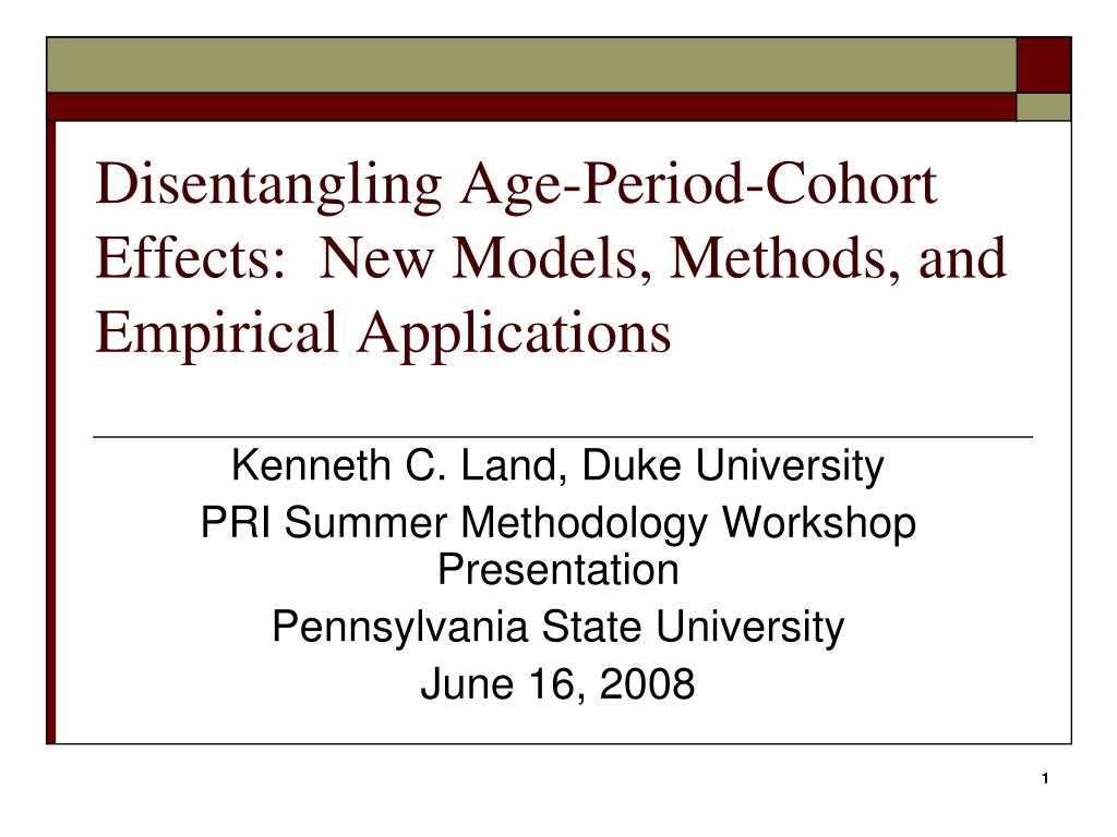 disentangling age period cohort effects new models methods and empirical applications