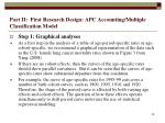 part ii first research design apc accounting multiple classification model28