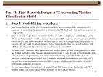 part ii first research design apc accounting multiple classification model30