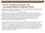 part ii first research design apc accounting multiple classification model39