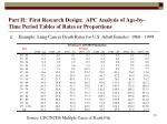 part ii first research design apc analysis of age by time period tables of rates or proportions19
