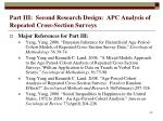 part iii second research design apc analysis of repeated cross section surveys