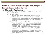 part iii second research design apc analysis of repeated cross section surveys50