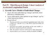 part iv third research design cohort analysis of accelerated longitudinal panels68