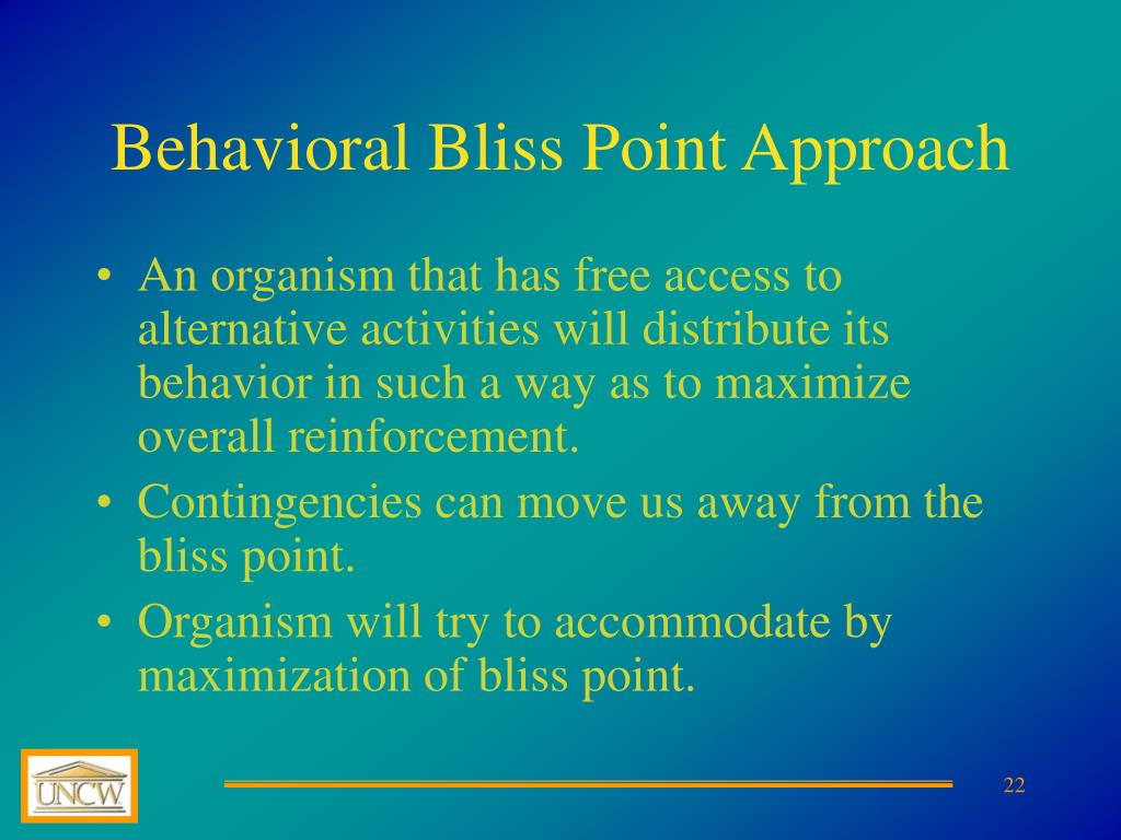 Behavioral Bliss Point Approach