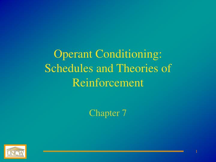 Operant conditioning schedules and theories of reinforcement