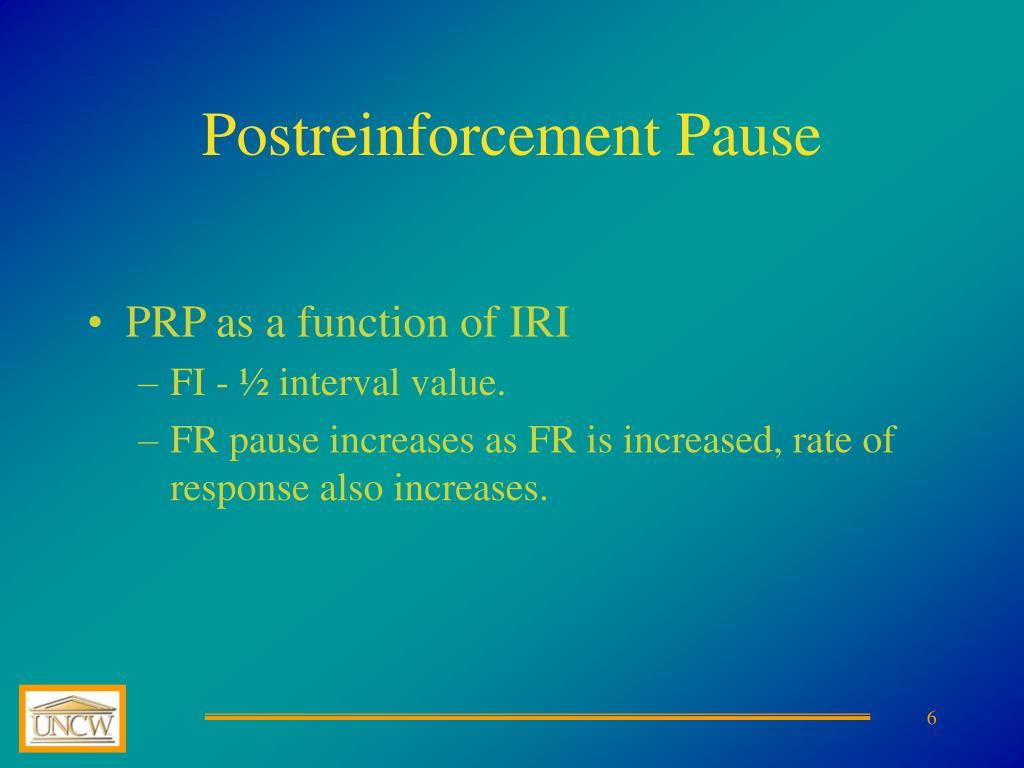 Postreinforcement Pause