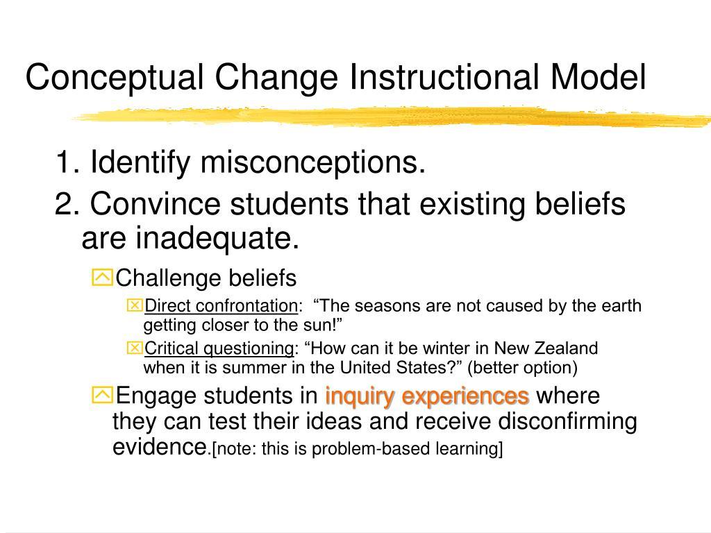 Conceptual Change Instructional Model