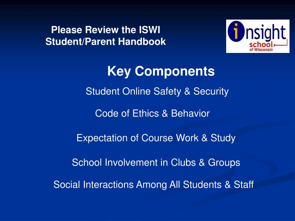 Please Review the ISWI Student/Parent Handbook