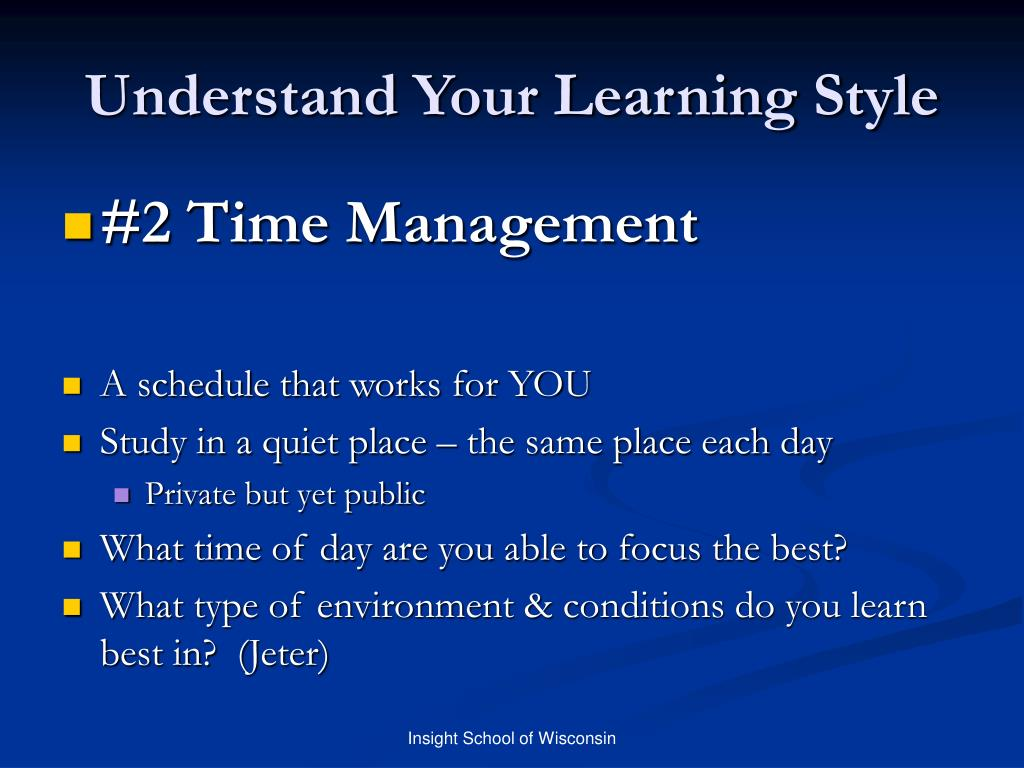 Understand Your Learning Style