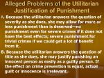alleged problems of the utilitarian justification of punishment