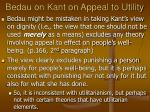 bedau on kant on appeal to utility