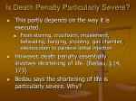 is death penalty particularly severe