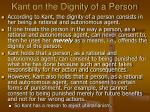 kant on the dignity of a person