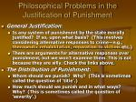 philosophical problems in the justification of punishment