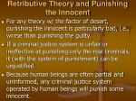retributive theory and punishing the innocent