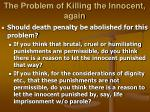 the problem of killing the innocent again