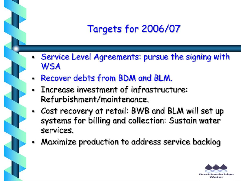 Targets for 2006/07