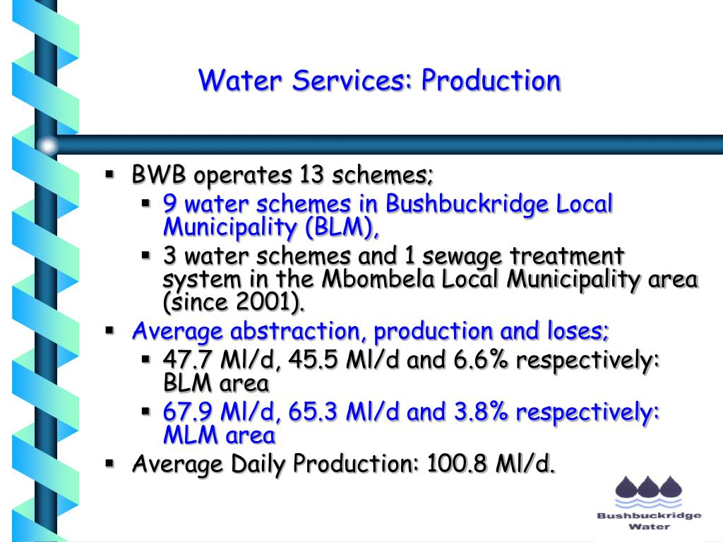 Water Services: Production