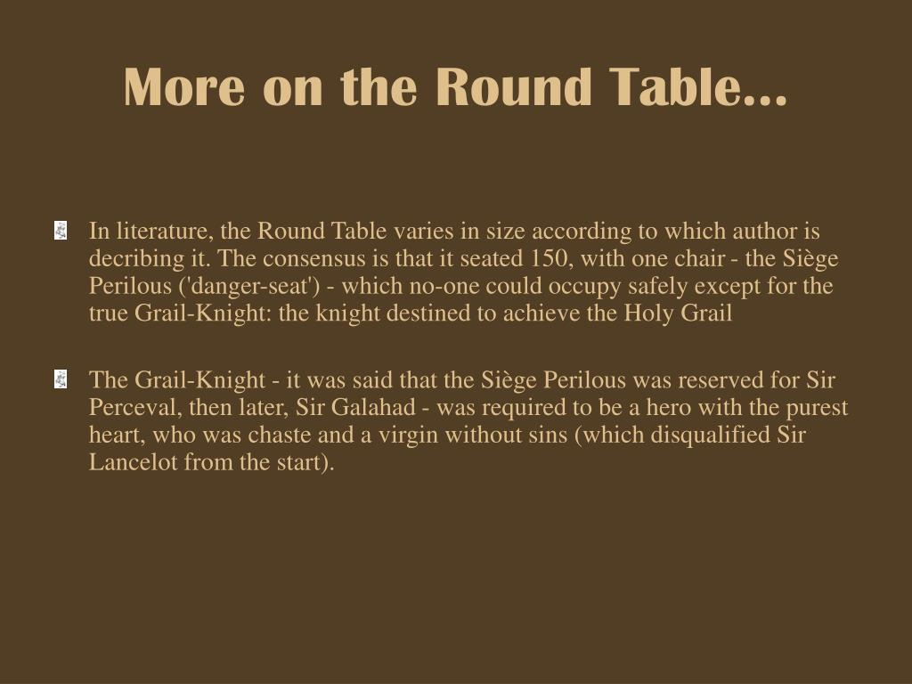 Ppt knights of the round table powerpoint presentation for 12 rules of the knights of the round table