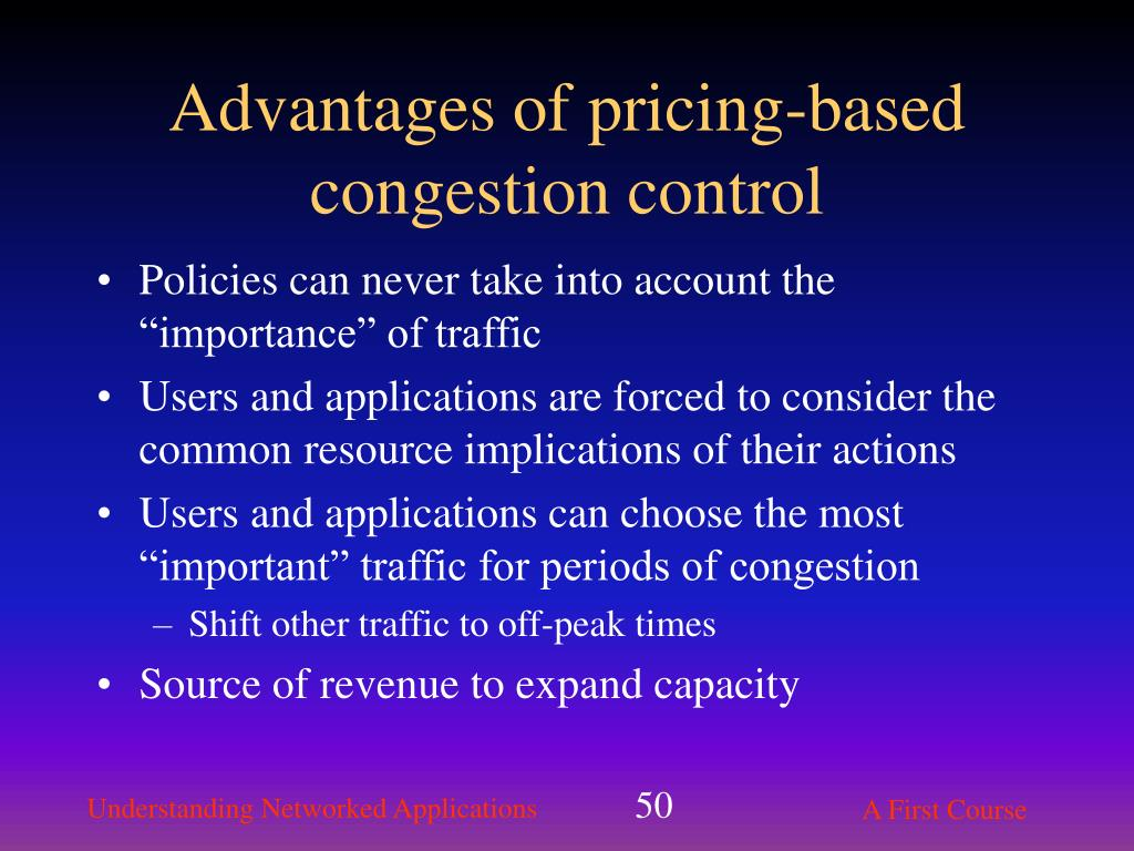 Advantages of pricing-based congestion control